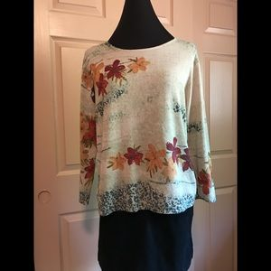 Knit top in shades of fall by City Girl